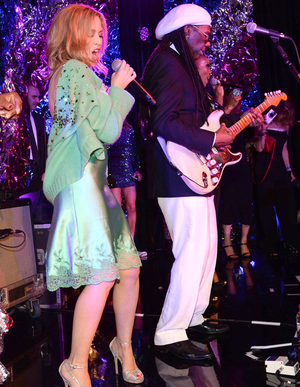 The BRIT Awards 2014 Warner Music Group After Party, London, Britain - 19 Feb 2014 Kylie Minogue and Nile Rodgers