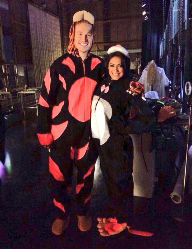 Casey Batchelor and Greg Rutherford film The Totally Senseless Show, 22 February 2014