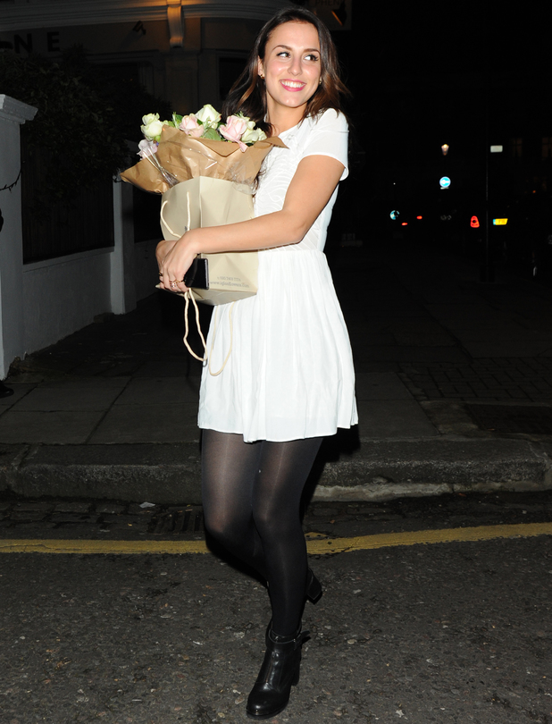 Lucy Watson leaves The Phene pub after celebrating her 23rd birthday - 21 Feb 2014