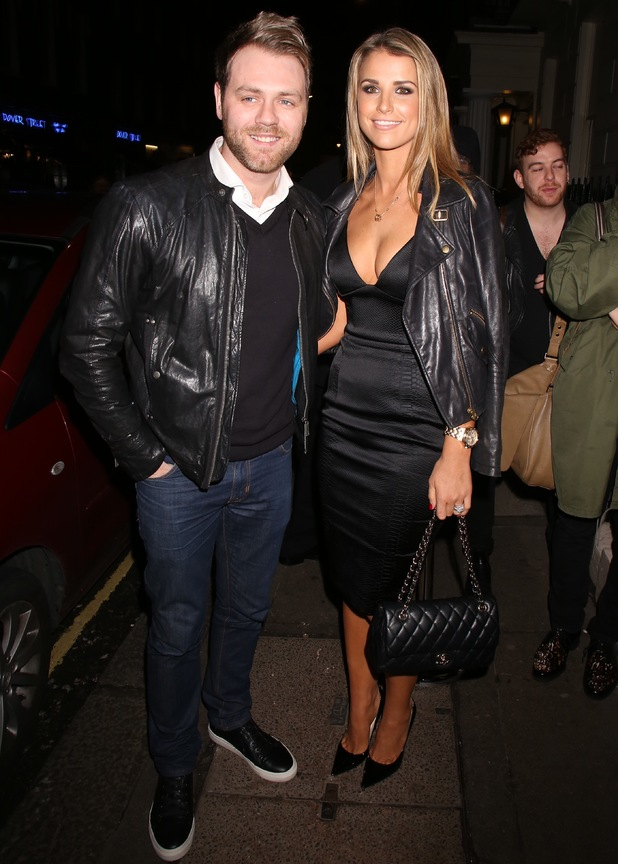 Brian McFadden and Vogue Williams leaving BRIT Awards 2014 Sony Music After Party, London, Britain - 19 Feb 2014