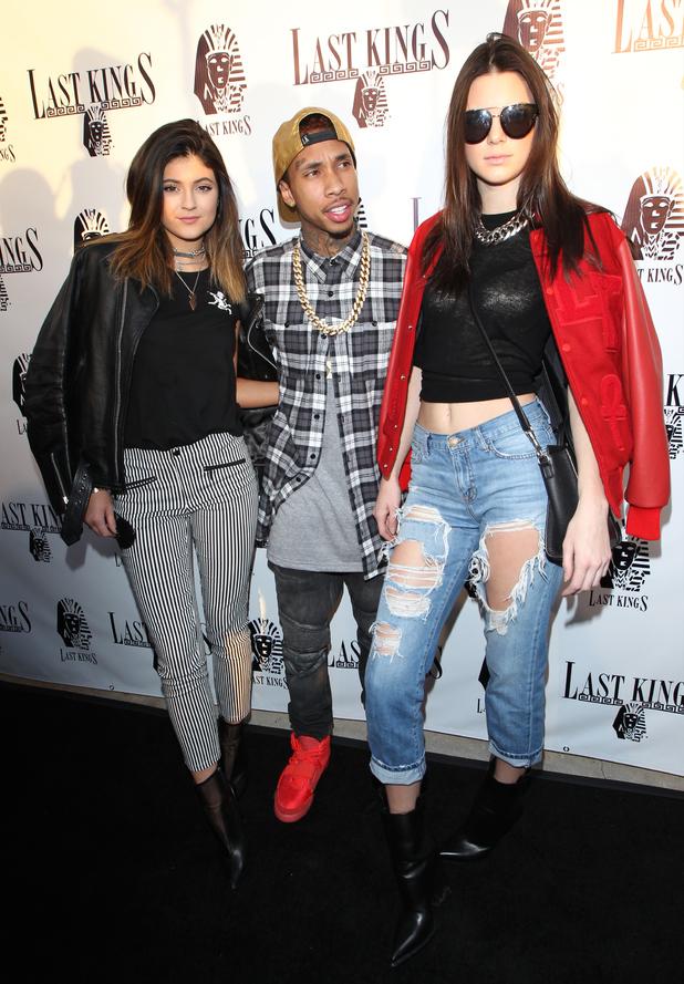 Last Kings Flagship Store Opening, Los Angeles, America - 20 Feb 2014 Kylie Jenner, Kendall Jenner, Tyga