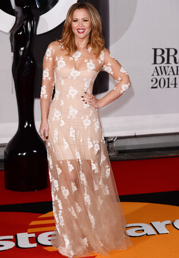 Kimberley Walsh, The Brit Awards, Arrivals, O2 Arena, London, Britain - 19 Feb 2014
