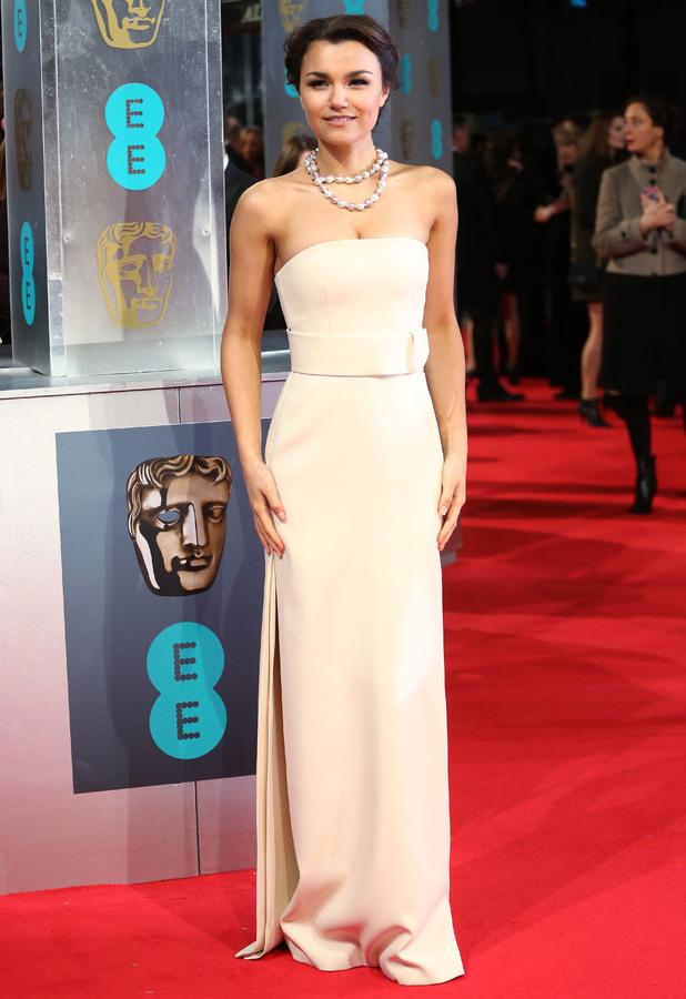 Samantha Barks at the BAFTAs 2014 held at the Royal Opera House in London - 16 February 2014