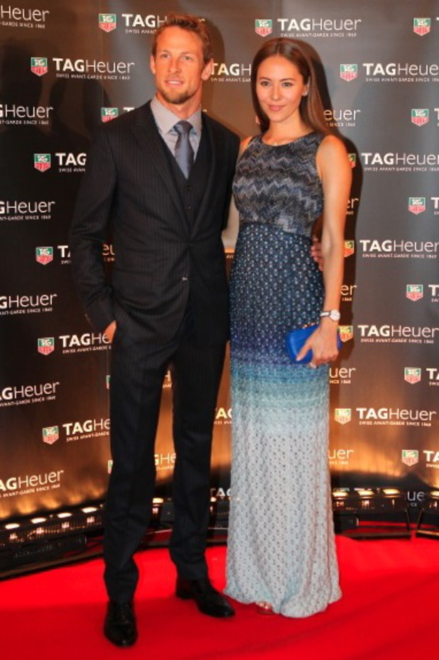 Jenson Button and Jessica Michibata at Tag Heuer Yacht Party - Arrivals - 25 May 2013