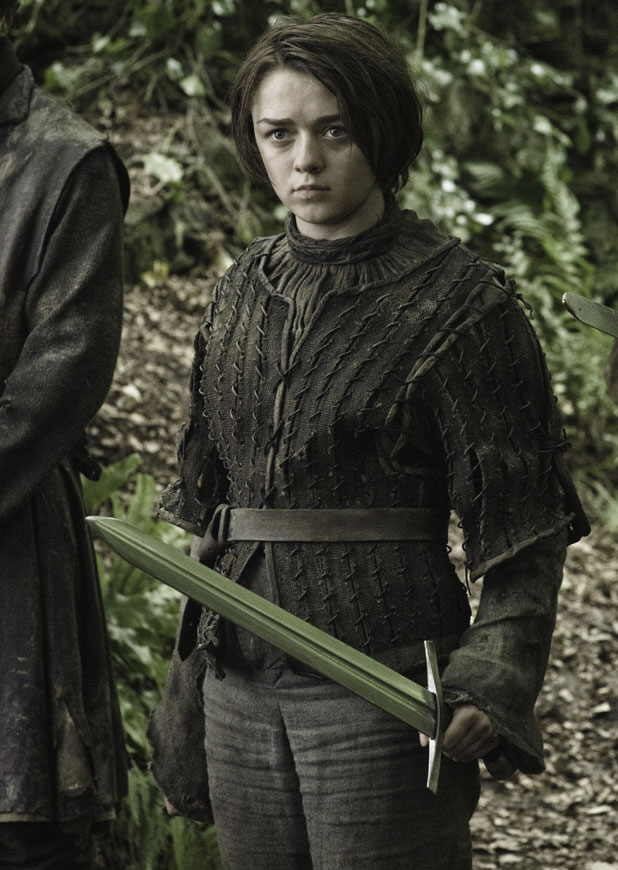 Arya Stark in Game of Thrones series three, available on Blu Ray and DVD from Monday, 17 February