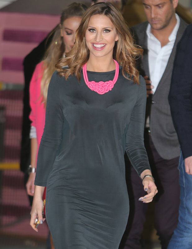 Ferne McCann outside ITV studios, London, 21 February 2014