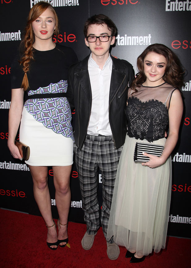 Game of Thrones' Sophie Turner, Isaac Hempstead-Wright, Maisie Williams, Entertainment Weekly Screen Actors Guild Party at Chateau Marmont, 17 January 2014