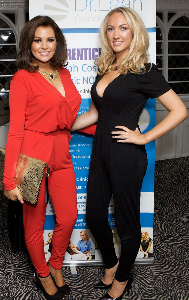 Jessica Wright and Leah Totton, Dr Leah Clinics Launch Party at Sheesh, Essex, Britain - 18 Feb 2014