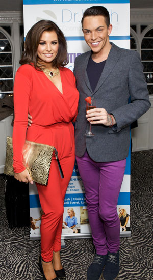 Jessica Wright and Bobby Cole Norris, Dr Leah Clinics Launch Party at Sheesh, Essex, Britain - 18 Feb 2014