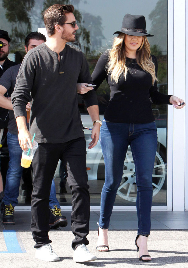 Khloe Kardashian and Scott Disick out and about, Los Angeles, America - 20 Feb 2014