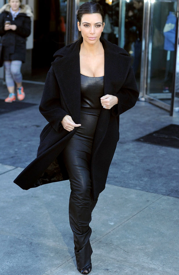 Kim Kardashian, 'Keeping Up With The Kardashians' on set filming, New York, America - 17 Feb 2014