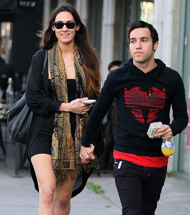Meagan Camper and Pete Wentz as they arrive at Joan's on Third for lunch Los Angeles, California - 01.11.11