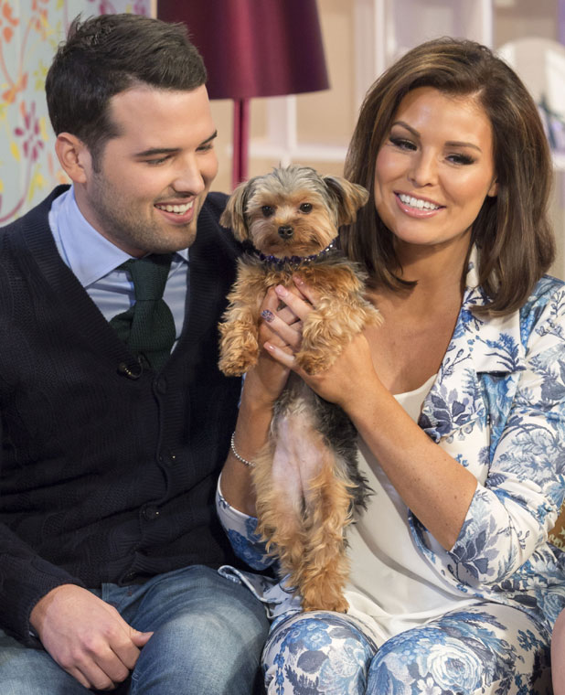 Jessica Wright and Ricky Rayment with puppy Bella on ITV's This Morning, London, 21 February 2014