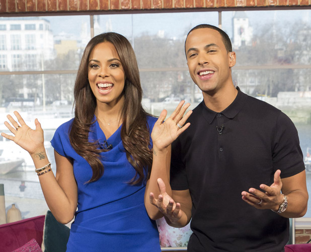 Rochelle Humes and Marvin Humes presenting This Morning on 21 February 2014