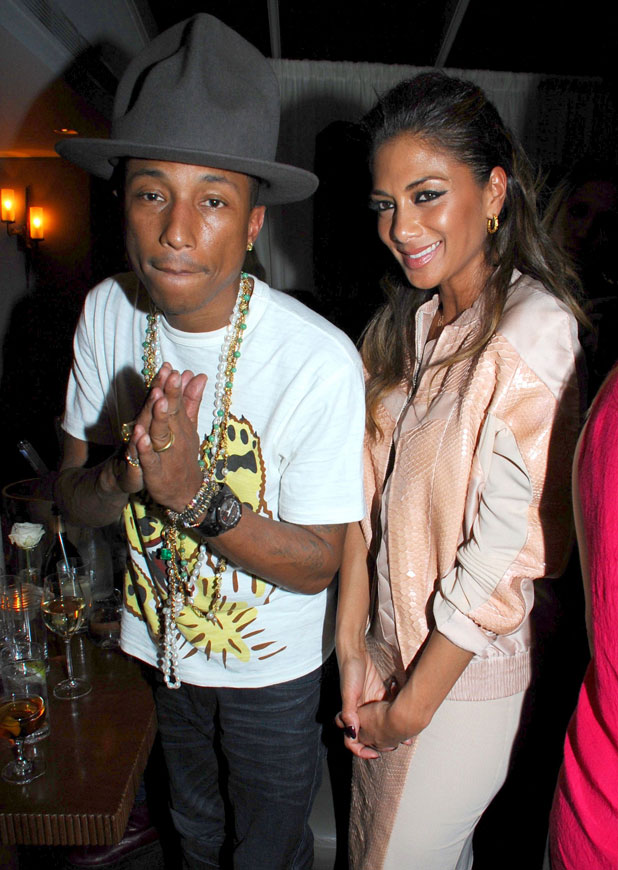 Pharrell Williams and Nicole Scherzinger, The BRIT Awards 2014 Sony Music After Party, London, Britain - 19 Feb 2014