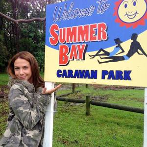 Kate Richie on location of Australian soap Home And Away