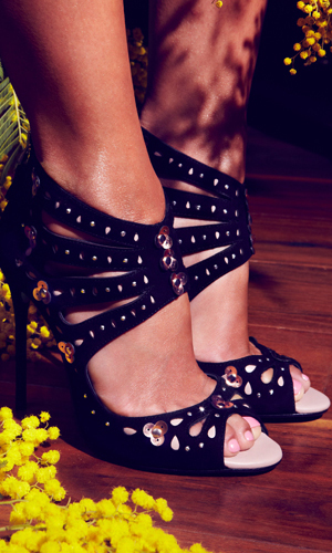 Chloe Green's new shoe collection, publicity shot, February 2014