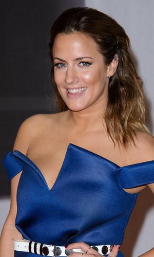 Caroline Flack, The Brit Awards (Brit's) 2014 held at the O2 - Arrivals, 19 February 2014