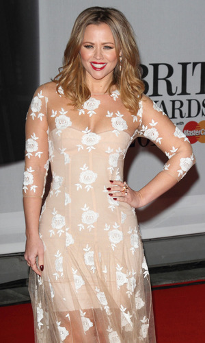 Kimberley Walsh - The Brits 2014 Red Carpet arrivals at the O2 Arena, London 02/19/2014