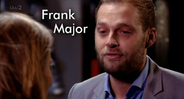 Frank Major on TOWIE, S11, E02, aired 26 February 2014