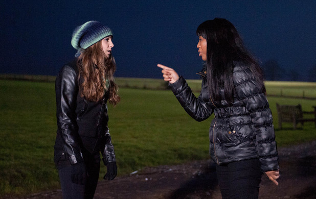 Emmerdale, Gemma and Belle argue, Fri 28 Feb