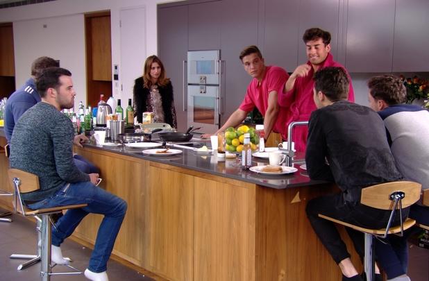 TOWIE's Ferne McCann confronts the lads about the Frank Major slip - 26 Feb 2014