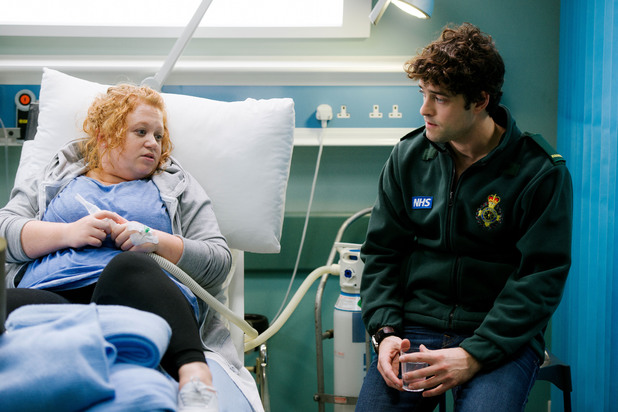 Casualty, Lee Mead's first episode, Sat 1 Mar