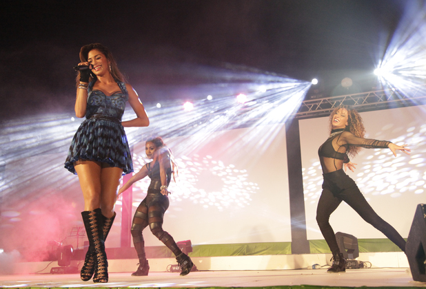 Nicole Scherzinger performing and helping to launch The Sun Siyam Iru Fushi in the Maldives - the first and flagship branded property of the new Sun Siyam Resorts. 21.2.2014