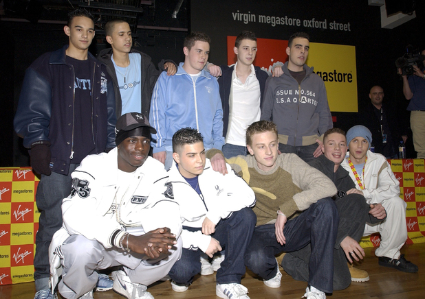 BLAZIN' SQUAD SIGNING AT VIRGIN MEGASTORE, LONDON, BRITAIN - 11 FEB 2003