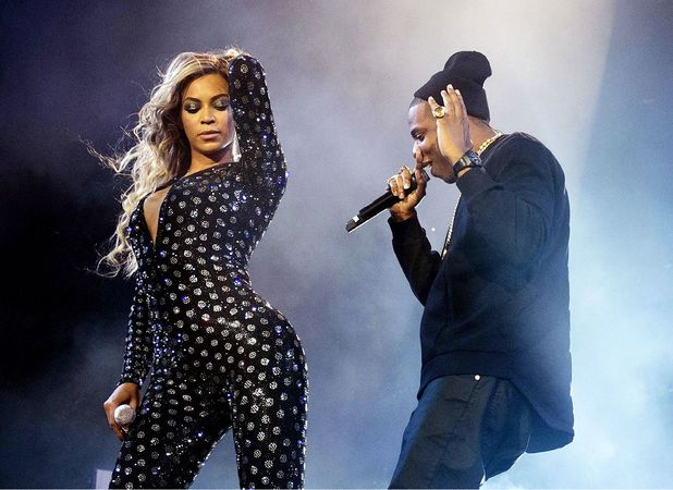 Beyoncé performs with husband Jay-Z in concert on her Mrs. Carter World Tour at the O2, London, Britain - 28 Feb 2014