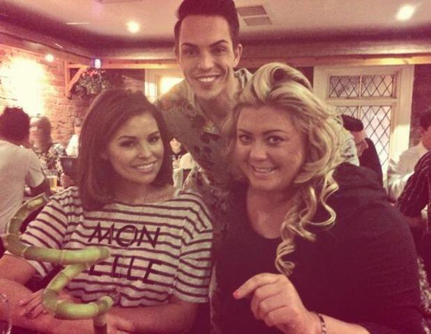 TOWIE's Bobby Norris, Gemma Collins and Jessica Wright dined out last night for a spot of Italian. (27 February 2014).