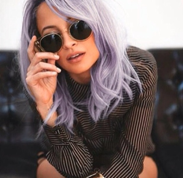 nicole richie 39 copies 39 kelly osbourne with fab new lilac. Black Bedroom Furniture Sets. Home Design Ideas