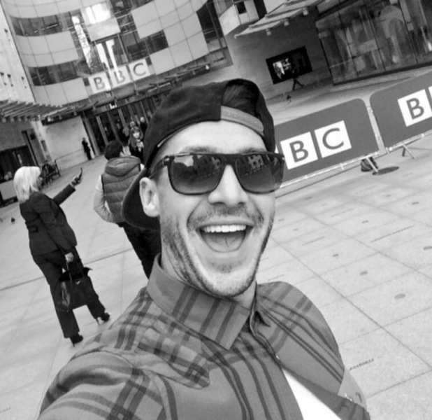 Kirk Norcross at the BBC studios ahead of 1 Extra appearance - 26 Feb 2014