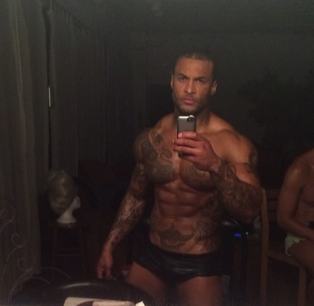 David McIntosh shows off muscles in America - February 2014