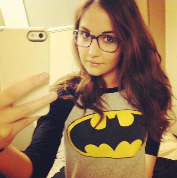 Jacqueline Jossa wears Batman T-shirt - Feb 2014
