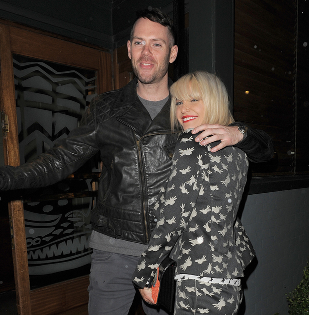 Sarah Harding and boyfriend Mark Foster enjoy a visit to Groucho private members club in Soho - 4 Feb 2014