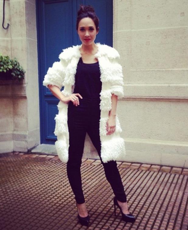 Myleene Klass Paris Fashion Week - February 2014
