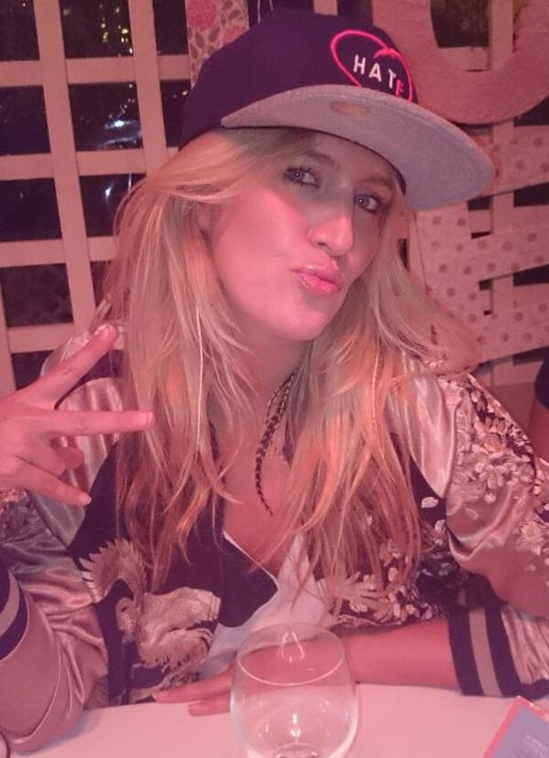 Cheska Hull poses in snapback cap, references Dappy - 27.2.2014