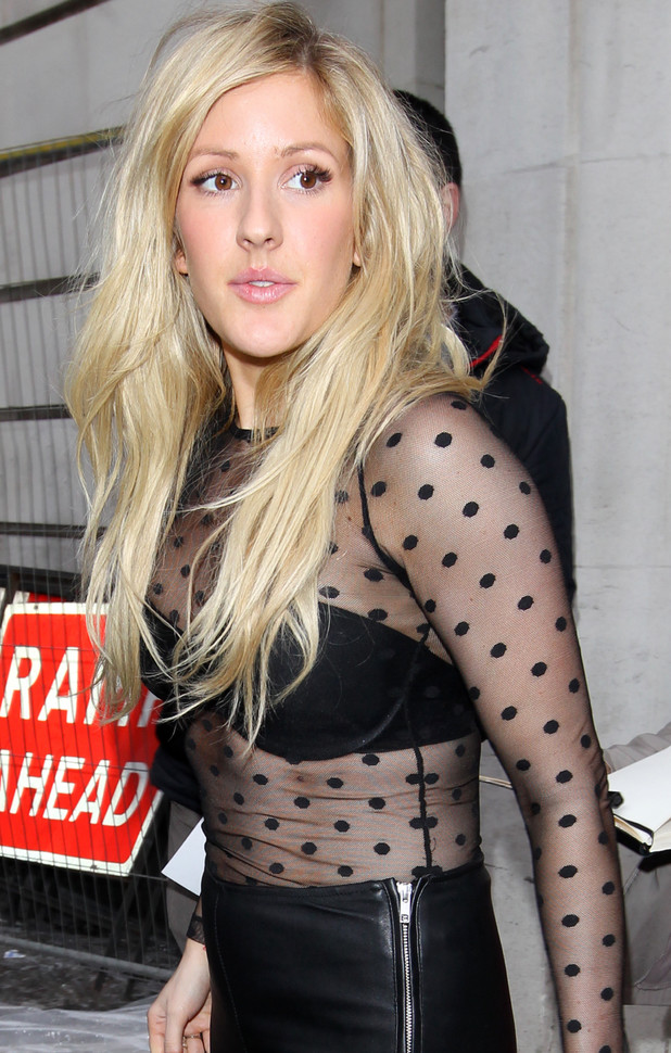 Ellie Goulding shopping in London