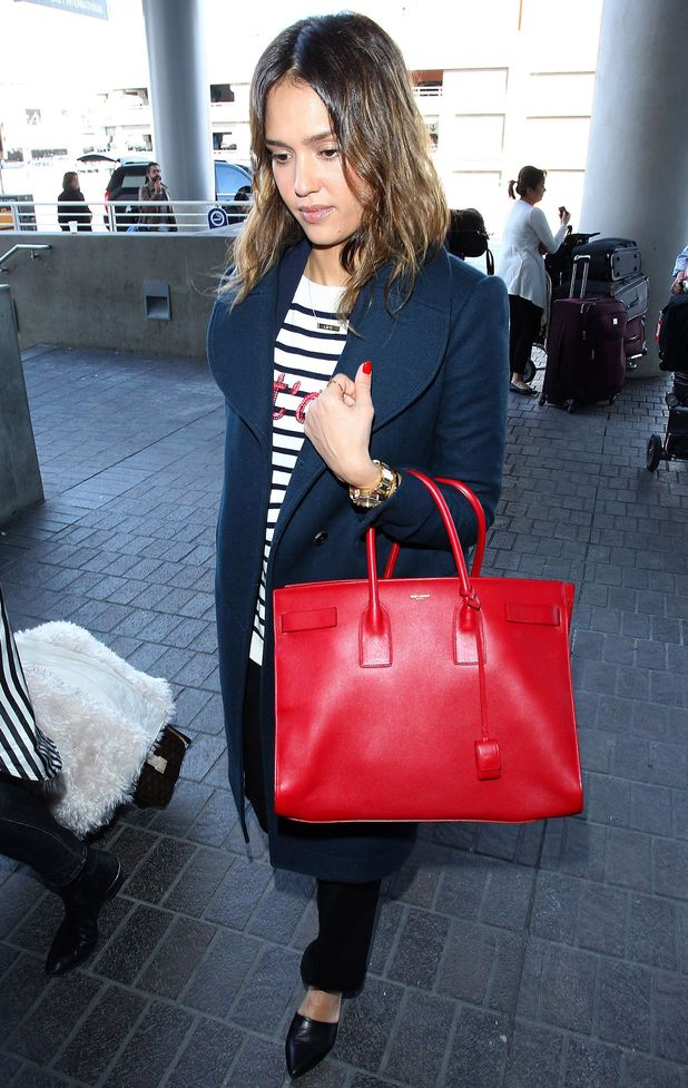 Jessica Alba arrives at LAX airport in Los Angeles, America, before flying to Paris, France - 25 February 2014