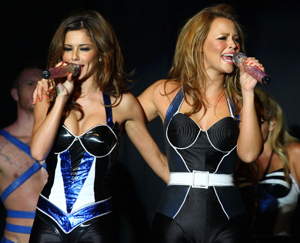 Cheryl Cole, Kimberley Walsh of Girls Aloud performing in concert at Elton Hall Peterborough, England - 16.08.08