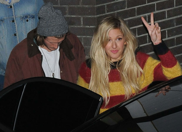 Ellie Goulding And Dougie Poynter At ITV, 27 February 2014
