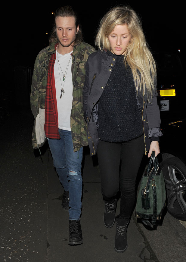 Ellie Goulding and Dougie Poynter out in London, 26 February 2014