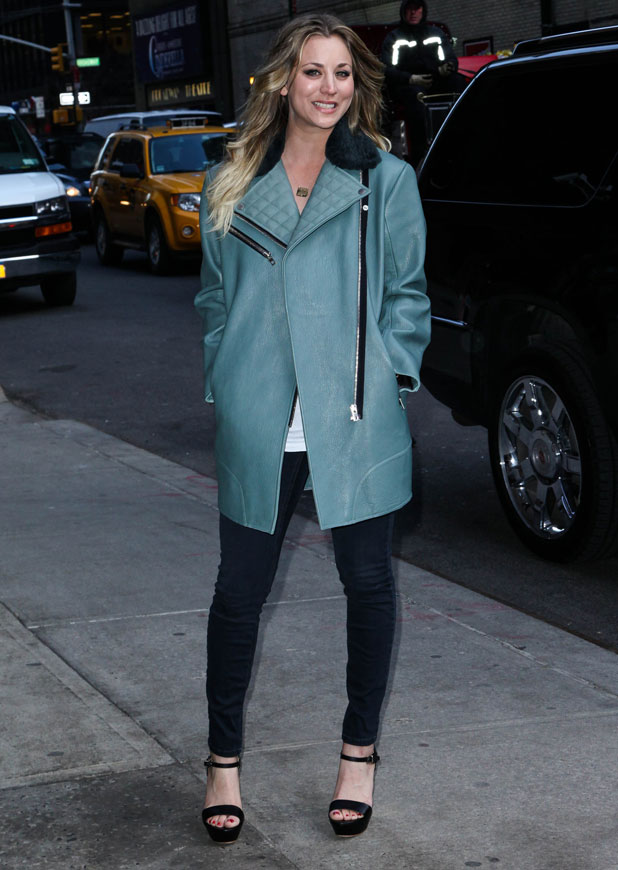 Kaley Cuoco, The Late Show with David Letterman' at the Ed Sullivan Theater - Arrivals, 24 February 2014