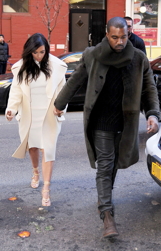 Kim Kardashian and Kanye West out in New York, 22 February 2014