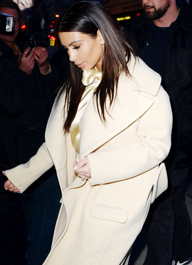 Kim Kardashian out and about in New York, America - 24 Feb 2014