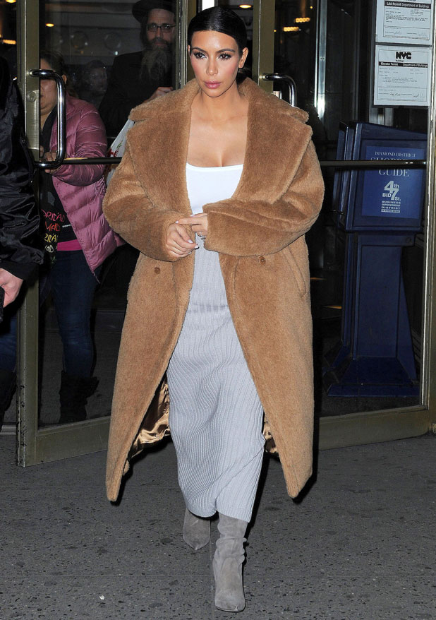 Kim Kardashian out and about, New York, America - 25 Feb 2014