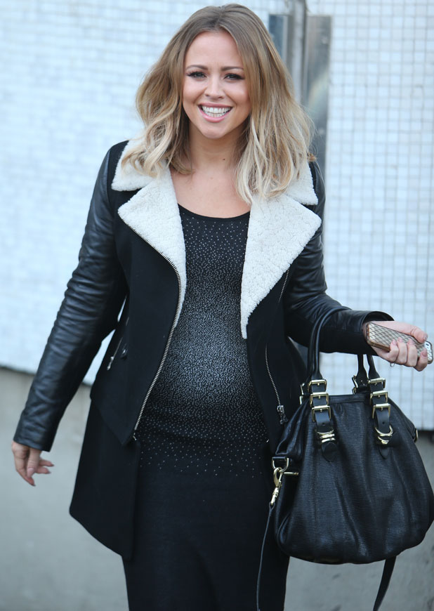 Kimberley Walsh outside the ITV studios, December 2013