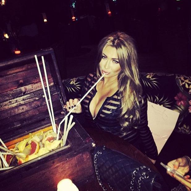 Lauren Goodger enjoys a night out at Mahiki night club, London, Britain - 25 Feb 2014
