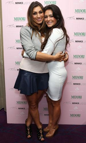 Casey Batchelor and Luisa Zissman at Total Minks Party, Soho Sanctum, London, 25 February 2014